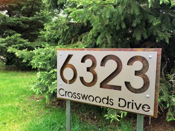Stainless Steel Garden Stake Type Address Plaque Etsy In 2020