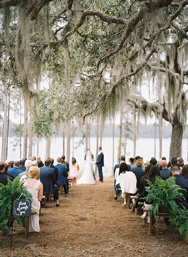 Inspired By This Elegant Lake Wedding Under A Spanish Moss Tree