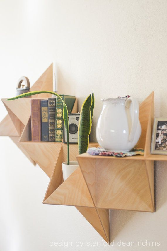 Danish Modern Inspired Modular Triangular by Designbystanford #bookshelf