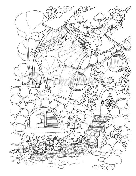 small coloring pages for adults - photo#26