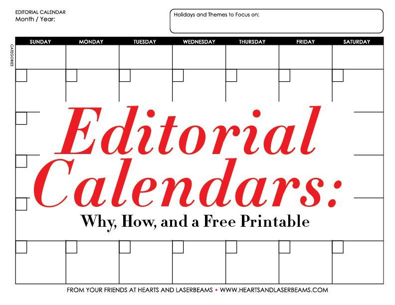 How To Start A Blog Editorial Calendar Free Printables Pinterest