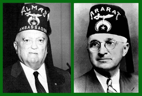 J Edgar Hoover and Harry Truman, both 33rd Degree masons, were members of the Ancient Arabic Order of the Nobles of the Mystic Shrine (Shriners North America; Shriners International).