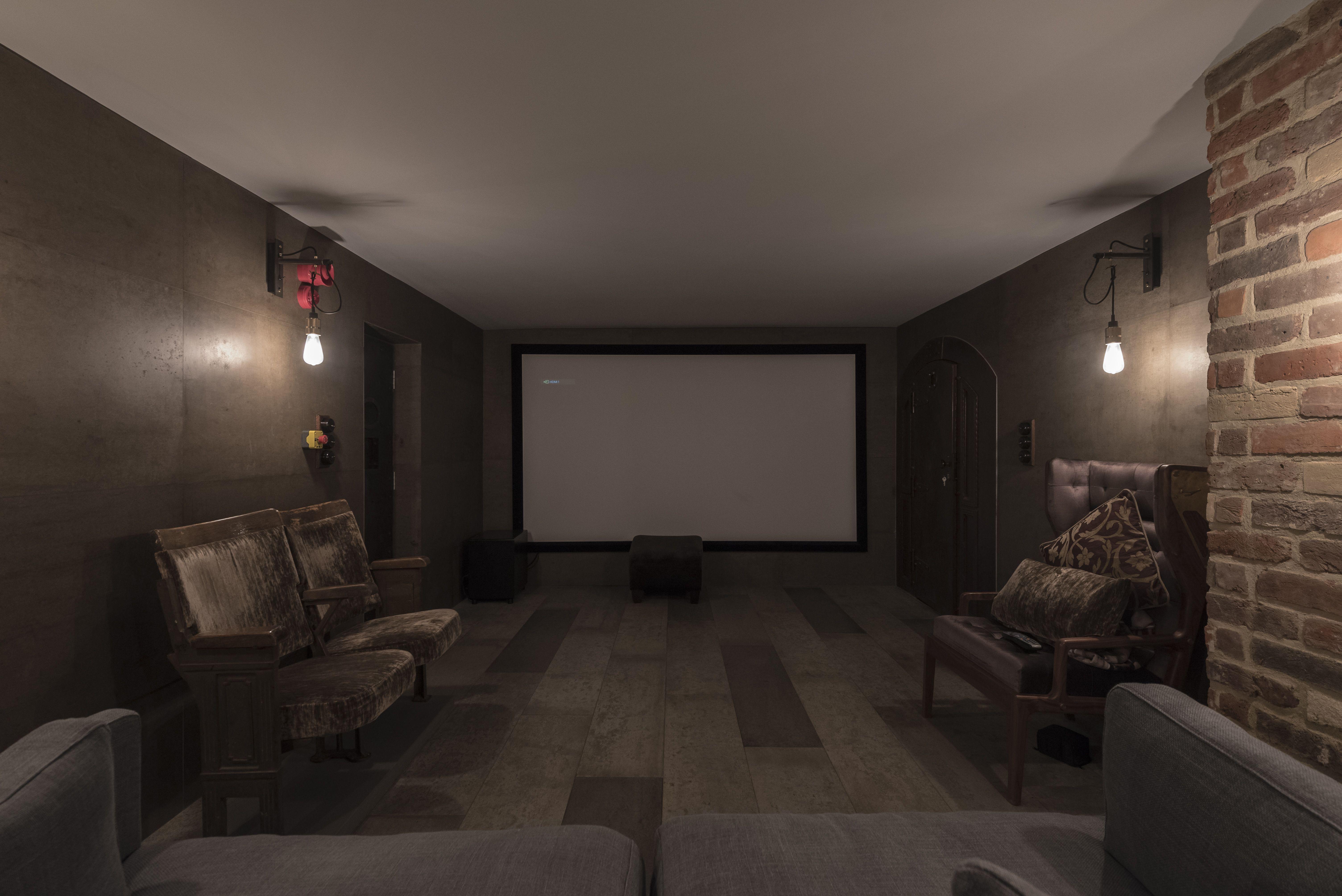 Captivating Cellar Cinema, Cellar Conversion, Custom Home Cellar, Interior Design,  Concrete Decor,