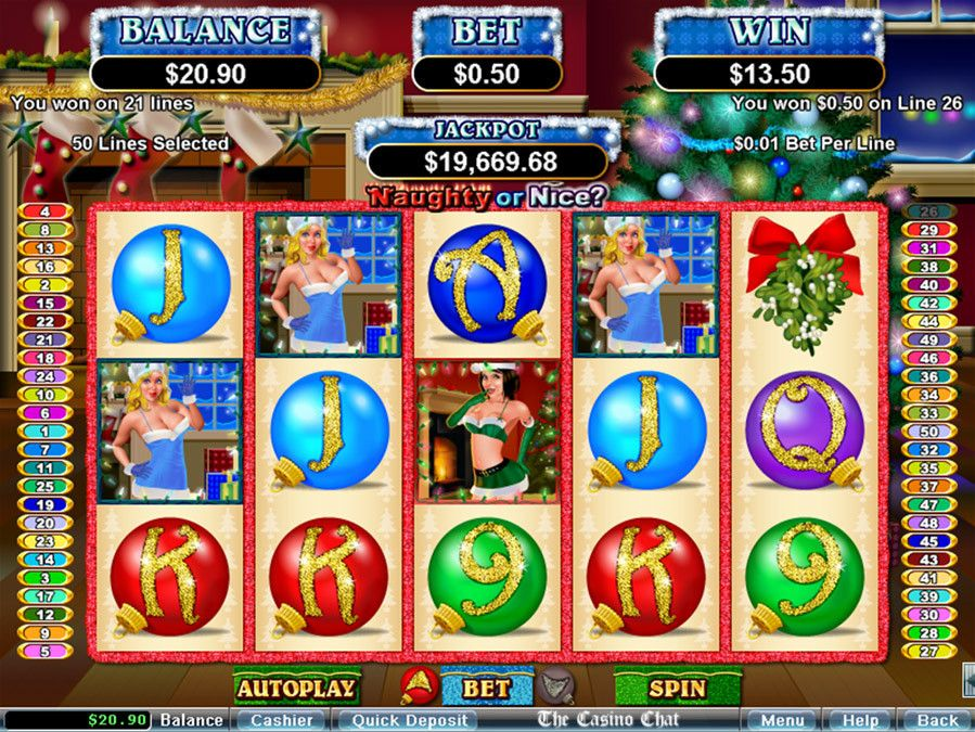 Naughty or Nice Slots games, Christmas themes, Online