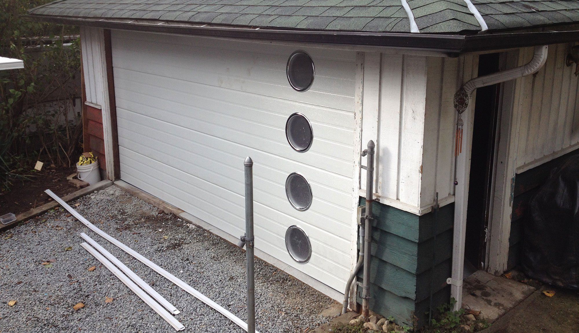 This Retro Garage Door Was Just Installed in Our 1940 S Bungalow