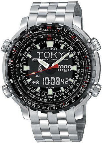 seiko men s snj017 analog digital world time flight chronograph seiko men s snj017 analog digital world time flight chronograph watch seiko
