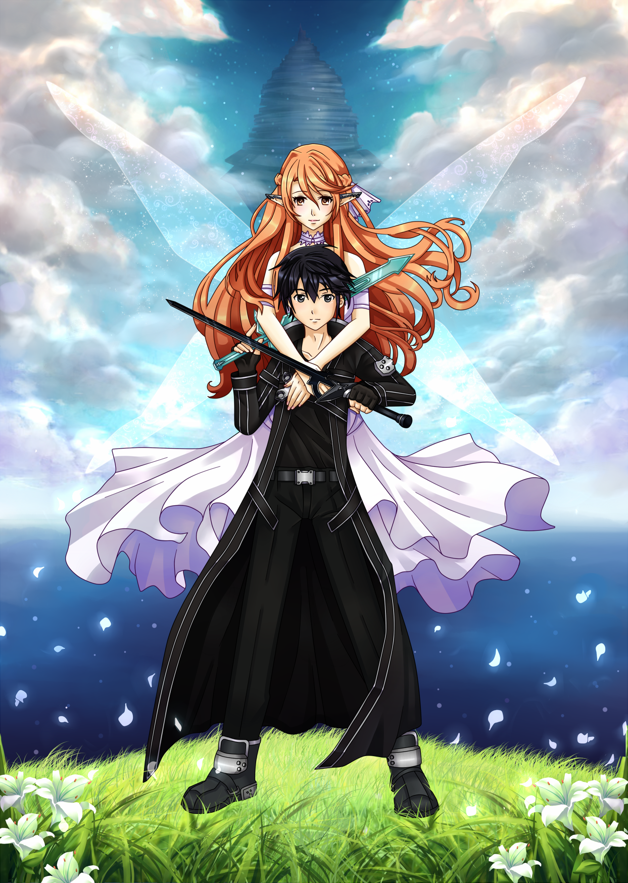 SAO Kirito and Asuna by on