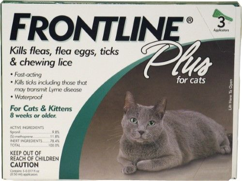 Frontline Plus Cat Flea And Tick Control, See Package