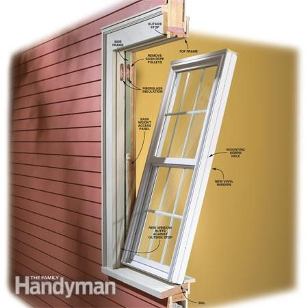 How To Install Vinyl Replacement Windows Vinyl Replacement Windows Home Improvement Projects Diy Home Repair