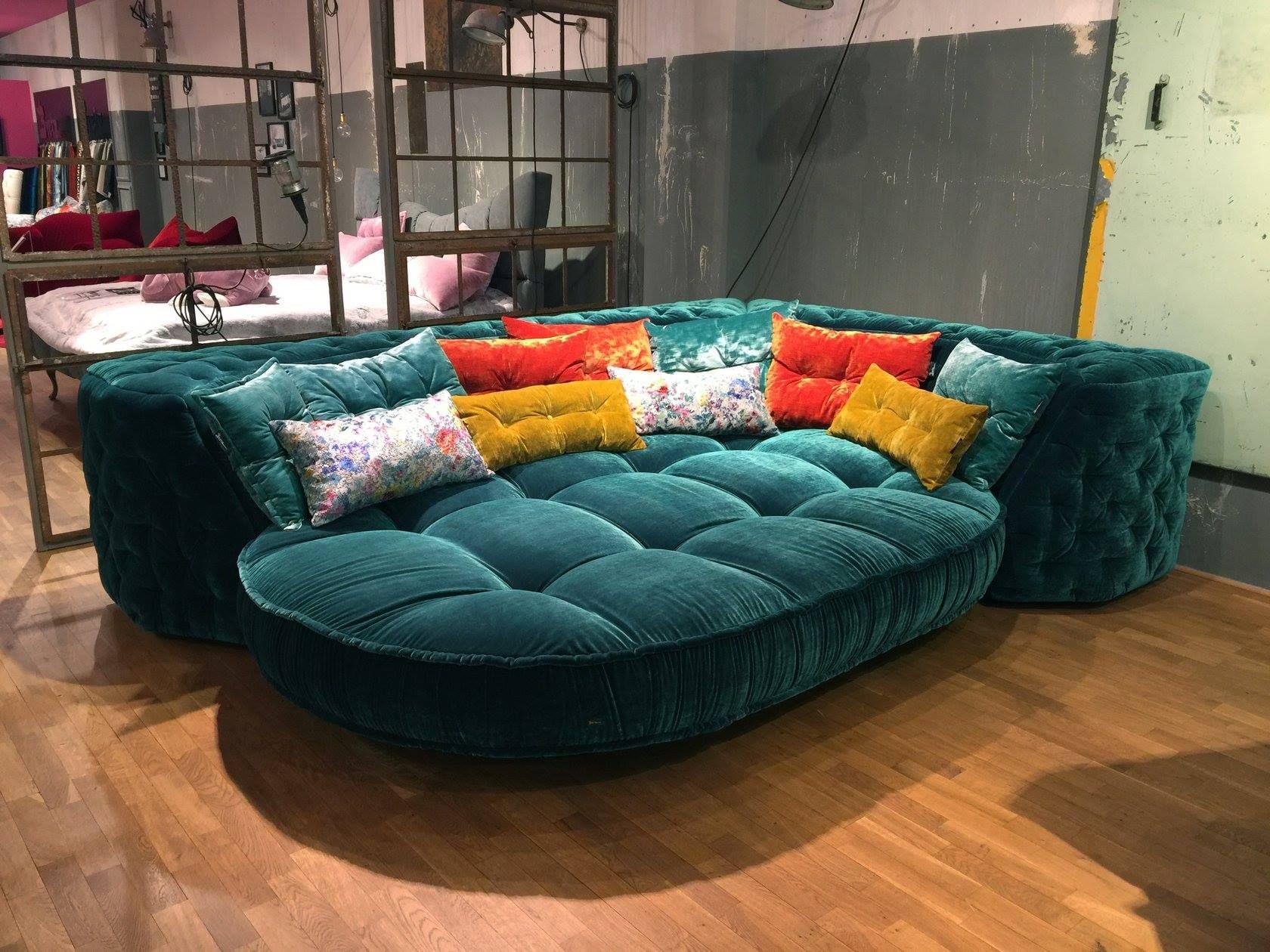 mit dem ecksofa von bretz kann der sonntag ja nur entspannt werden. Black Bedroom Furniture Sets. Home Design Ideas