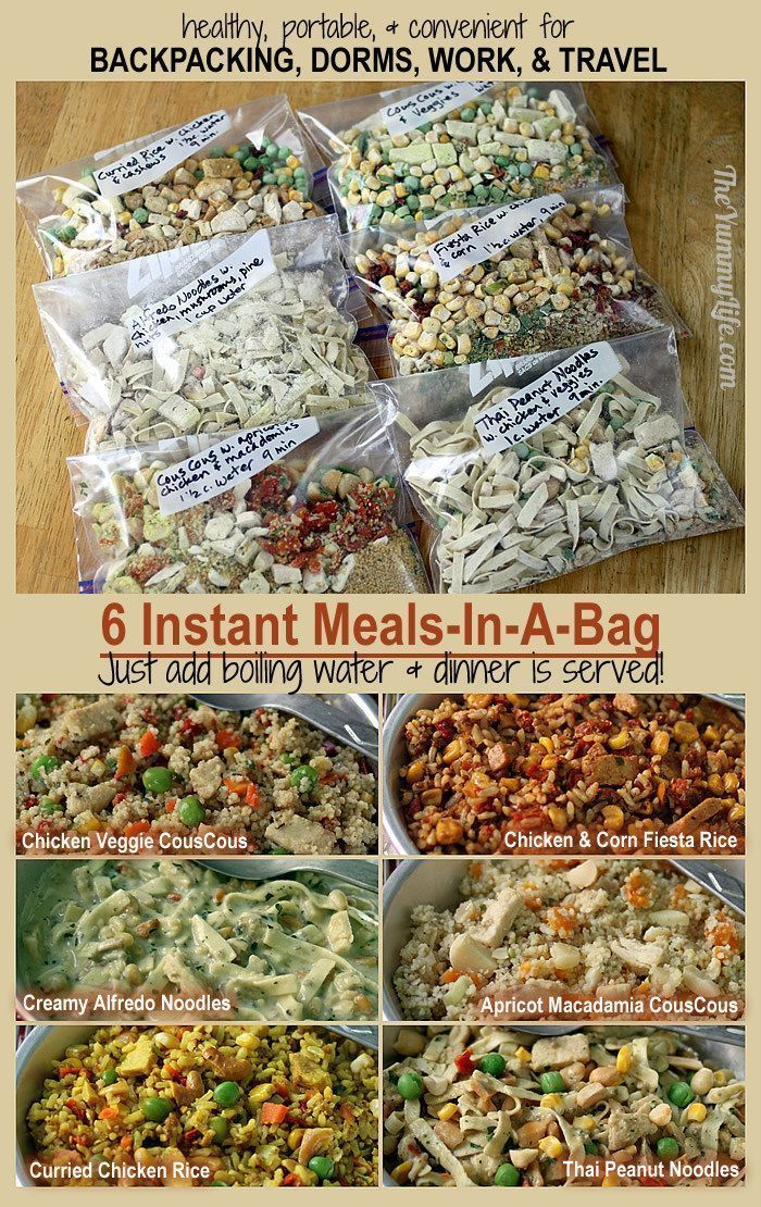 Photo of 6 instant meals on the go – camping
