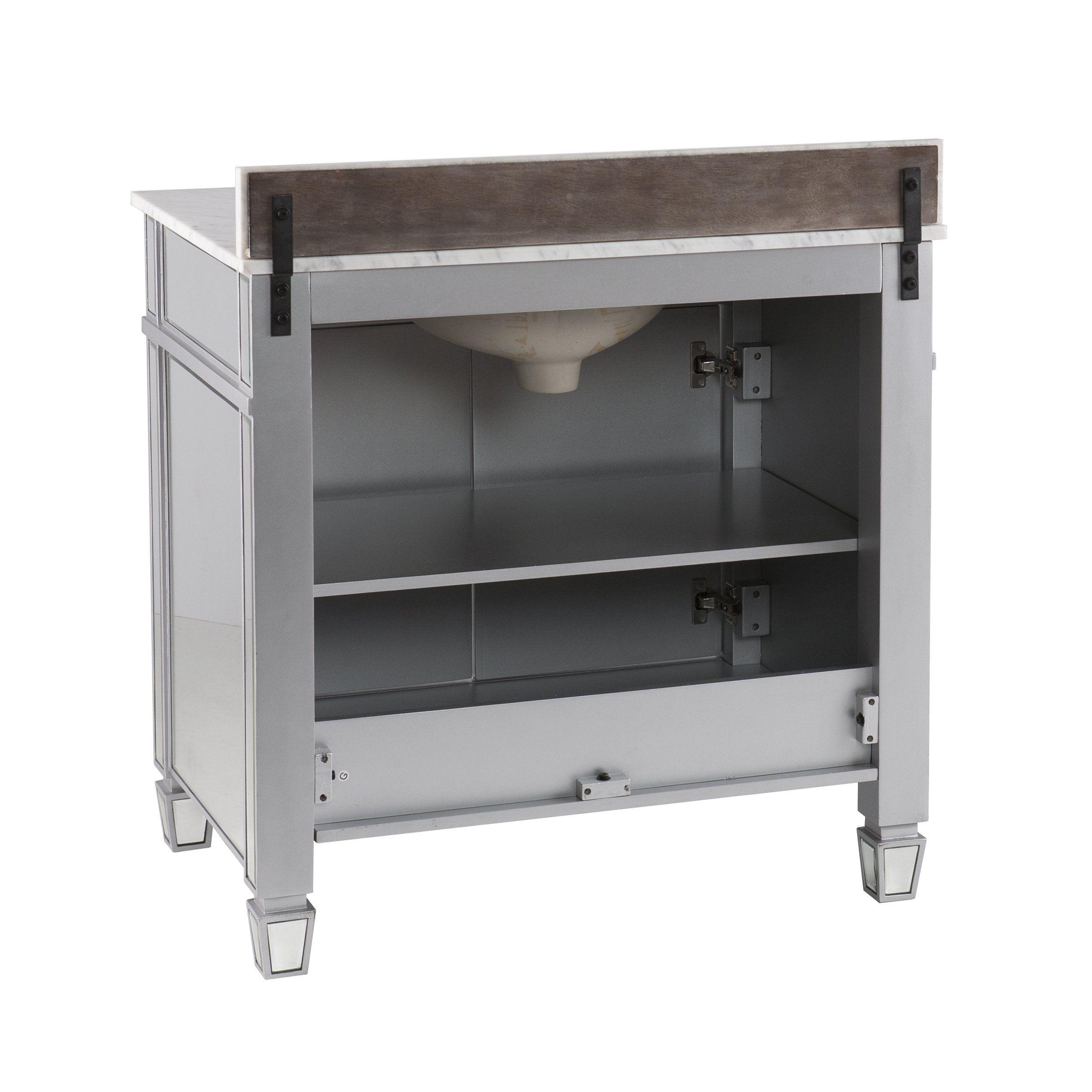 Photo of Mirage Double-Door Bath Vanity Sink w/ Marble Top