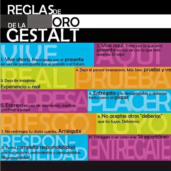 REGLAS DE ORO DE LA GESTALT | Reglas de oro, Imagenes para estados ...