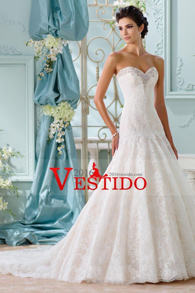 2016 vestidos de boda del amor de la sirena de talle bajo con ...