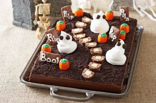 G teau cimeti re effrayant recette halloween pinterest foule rendez vous et halloween - Recette gateau halloween facile ...