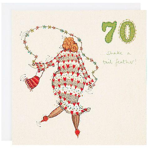 Buy Woodmansterne 70th Birthday Card John Lewis Birthday Card Online 70th Birthday Birthday Cards