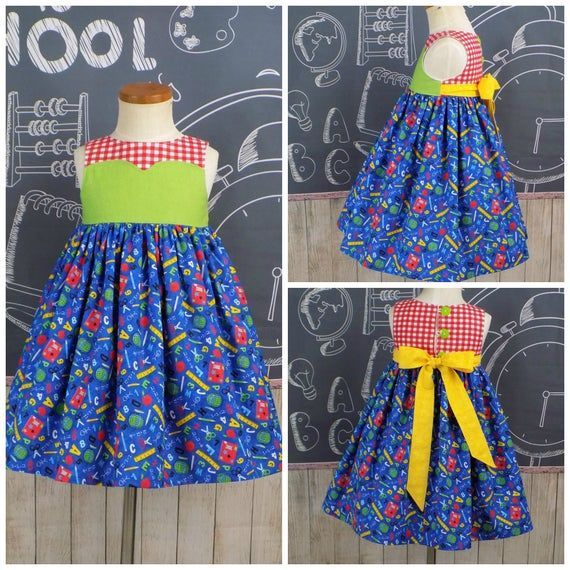 Back to School Dress, First Day of School Dress, Girls, Back to School Outfit, First Day of School O #firstdayofschooloutfits Back to School Dress, First Day of School Dress, Girls, Back to School Outfit, First Day of School O #firstdayofschooloutfits