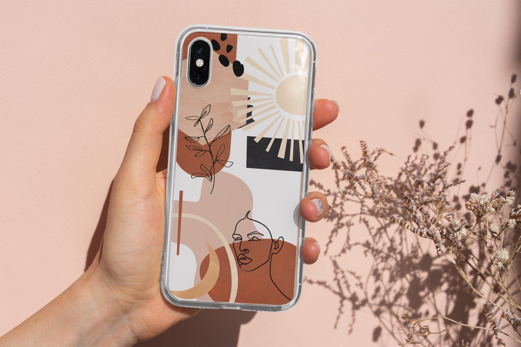 Abstract aesthetic phone case iphone 12 11 pro max xr xs