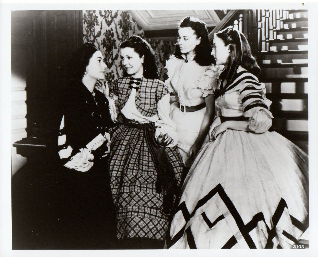 Vivien Leigh Evelyn Keyes Gone with The Wind Movie Photo