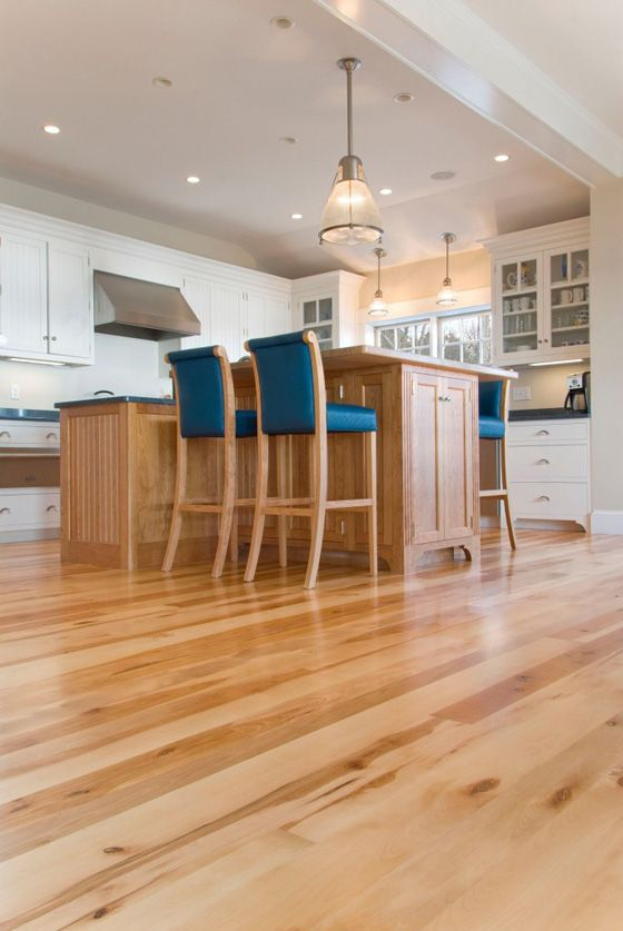 Natural Character Grade American Birch Flooring In A Cape Cod Kitchen