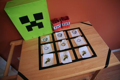 The Minecraft Birthday: Scavenger hunt & challenges to earn ingredients to make a cake!