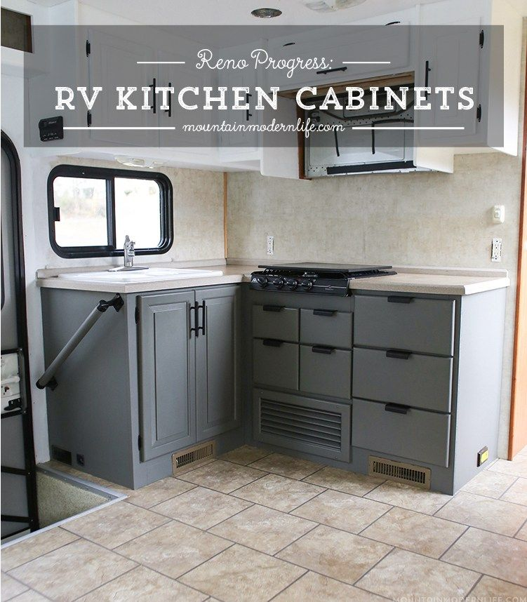 The Progress Of Our Rv Kitchen Cabinets Rv Remodel Pinterest