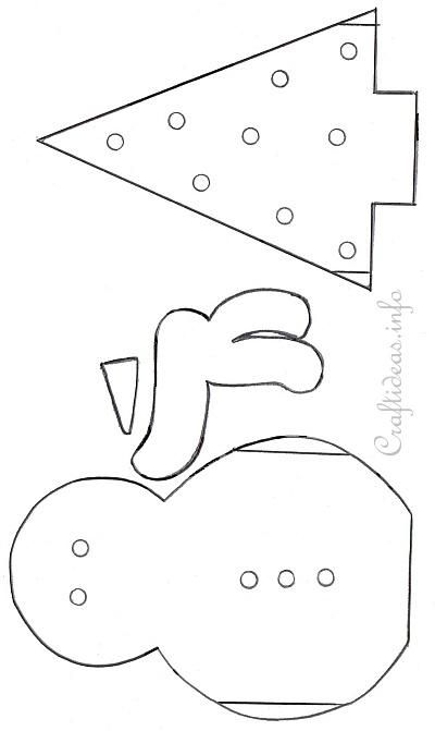 Snowman and Tree Templates Paper craft + Pinterest Snowman