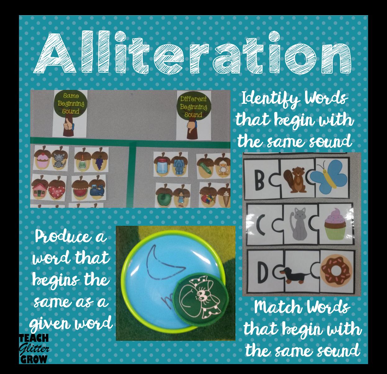 All About Alliteration Alliteration Activities Alliteration Family Literacy Night [ 1206 x 1246 Pixel ]