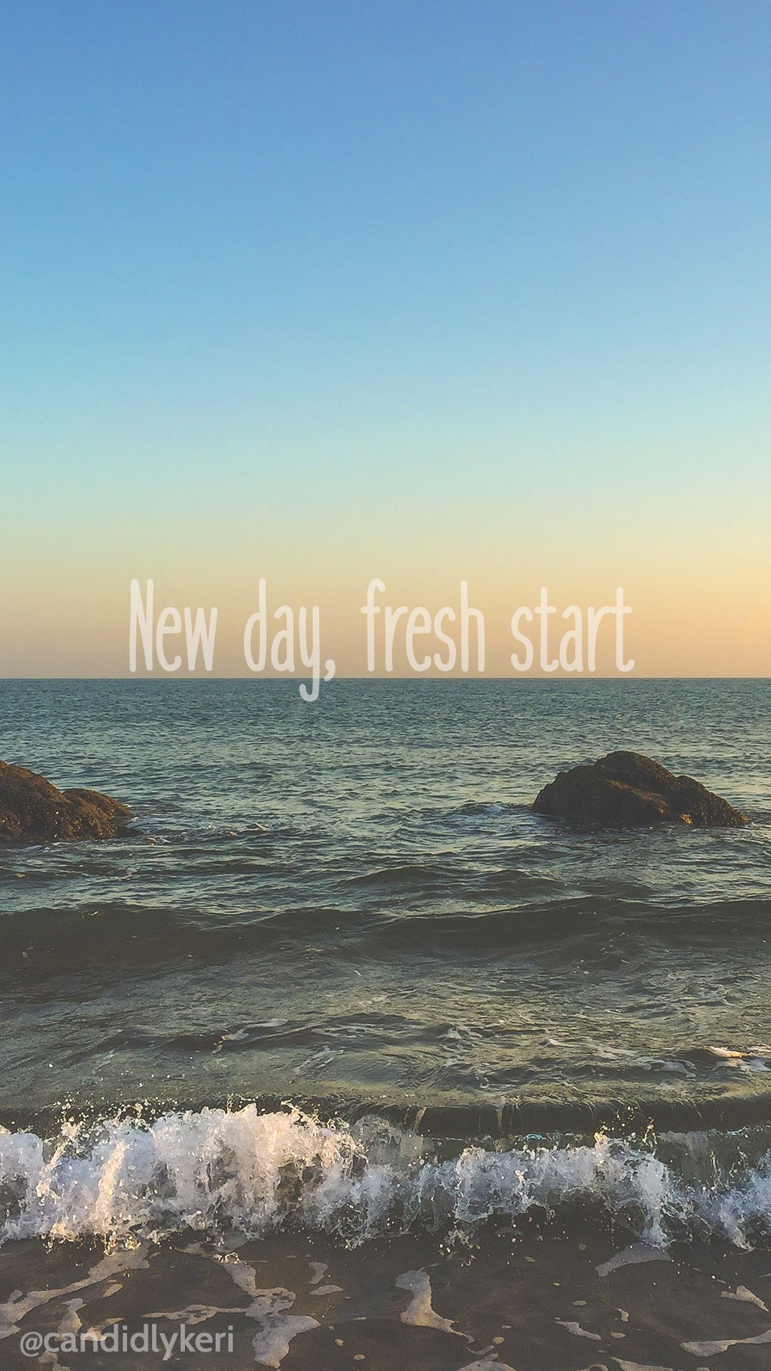 Blog Day Download Flower Free Fresh Ocean Phonebackgroundsquoteflower Quote Start Sunset Wallpaper Ocean Quotes Flower Quotes Beach Phone Wallpaper