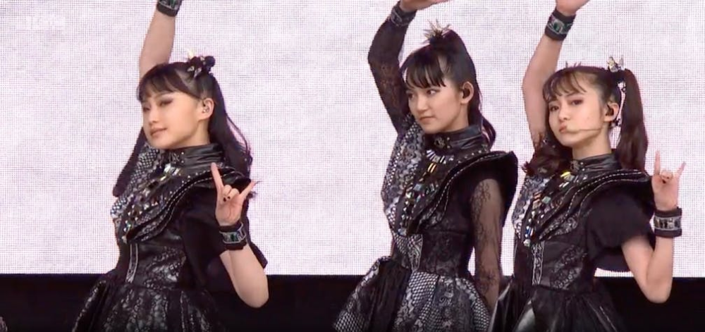 New Member Appears With BABYMETAL At Glastonbury ...
