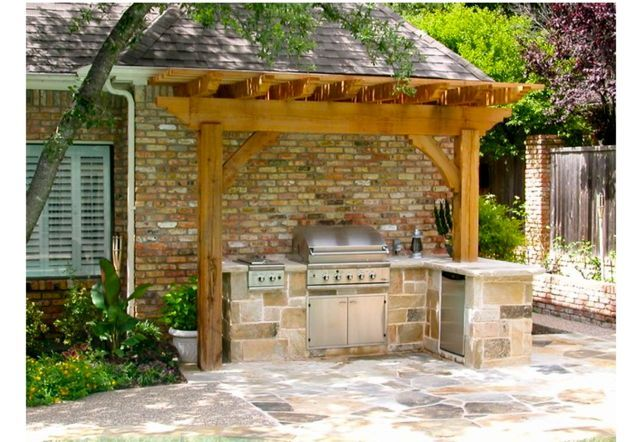 Outdoor Grill And Pergola Small Outdoor Kitchen Design Small Outdoor Kitchens Outdoor Pergola