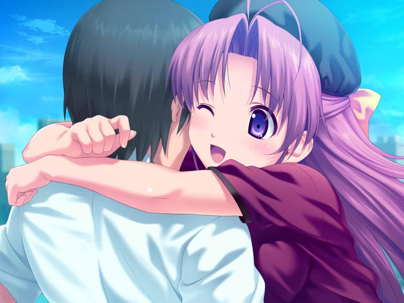 Cute Anime Hug Happy Hug Day Images Anime Hug Anime Happy Hug Day Images