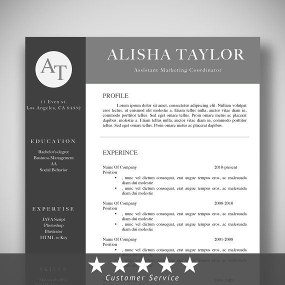 Professional Resume CV Template, Professional Templates, Instand - microsoft templates for resume