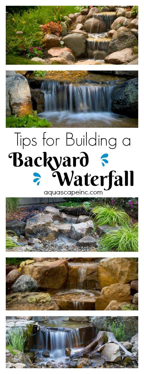 Tips for Building an Amazing Waterfall Estanques, Fuentes y Cascadas - fuentes de cascada