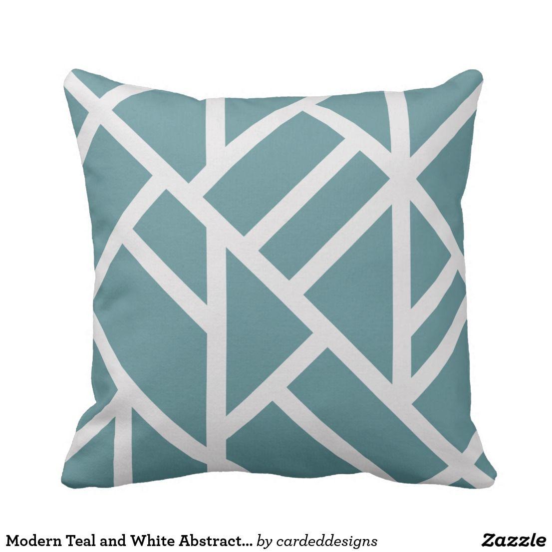 Modern Teal Decorative Throw Pillow  from i.pinimg.com