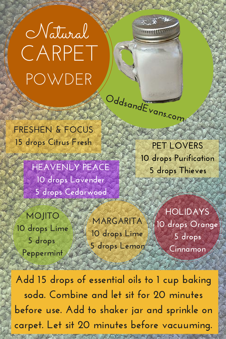 Homemade Carpet Powder Spice containers, Reuse and Vacuums