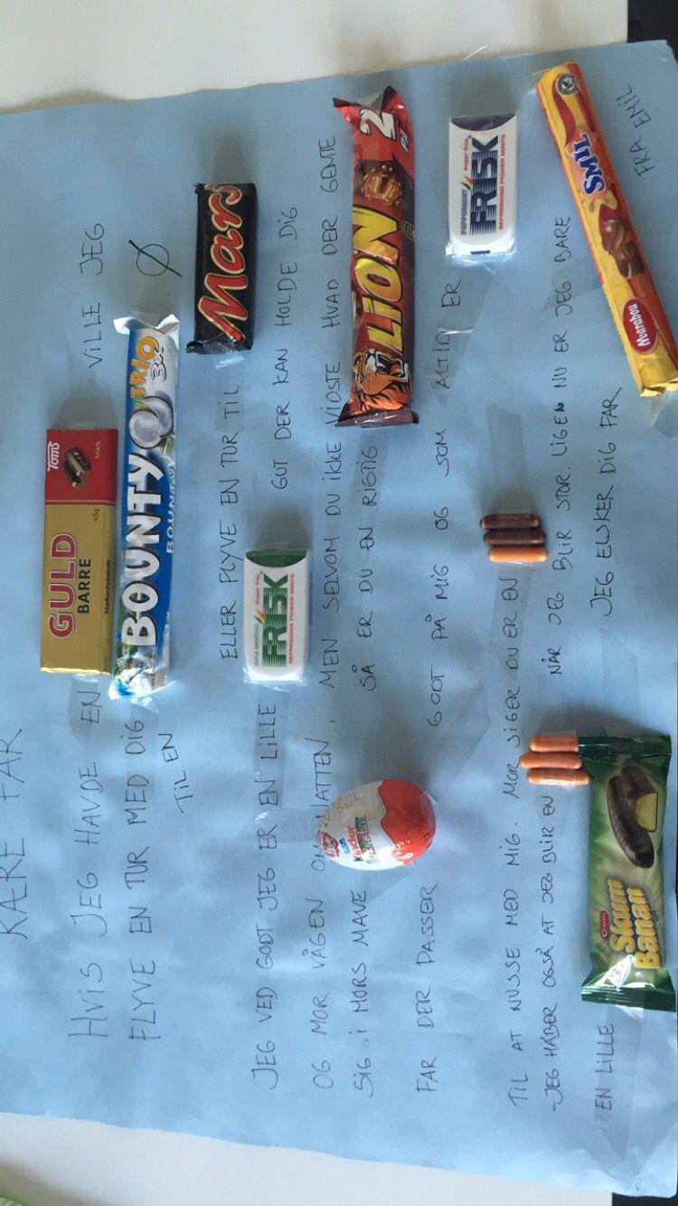 Brev med chokolade