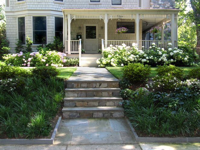 hydrangea landscaping front porch