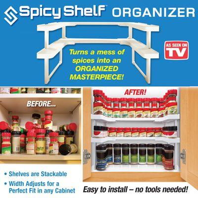 As Seen On Tv Spice Rack Spicy Shelf Kitchen Cabinet Spice Rack Organizer Spicy Shelf™ Is The