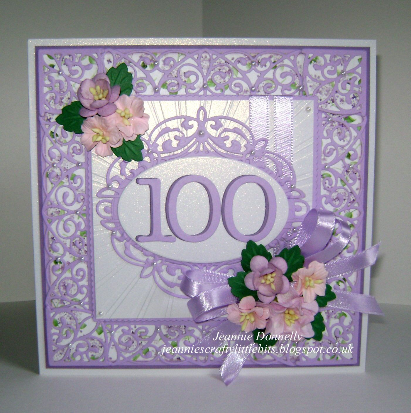 I Ve Got Some New Die Sets To Play With On This Card My First 100th Birthday Card Dies From C 100th Birthday Card Card Making Birthday Happy Birthday Cards