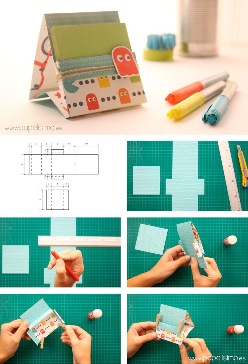 Organizador de escritorio de papel paso a paso dise o - Como hacer cosas de papel paso a paso faciles ...