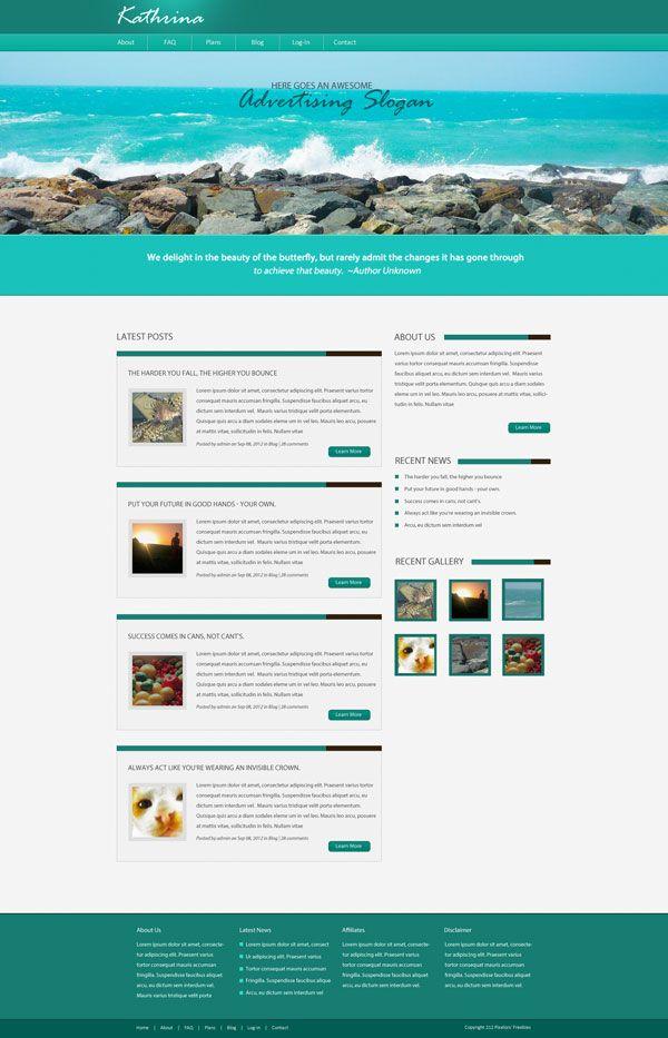 Blog Website Templates Blogwebsitetemplate 600×933  Blog Website Ideas