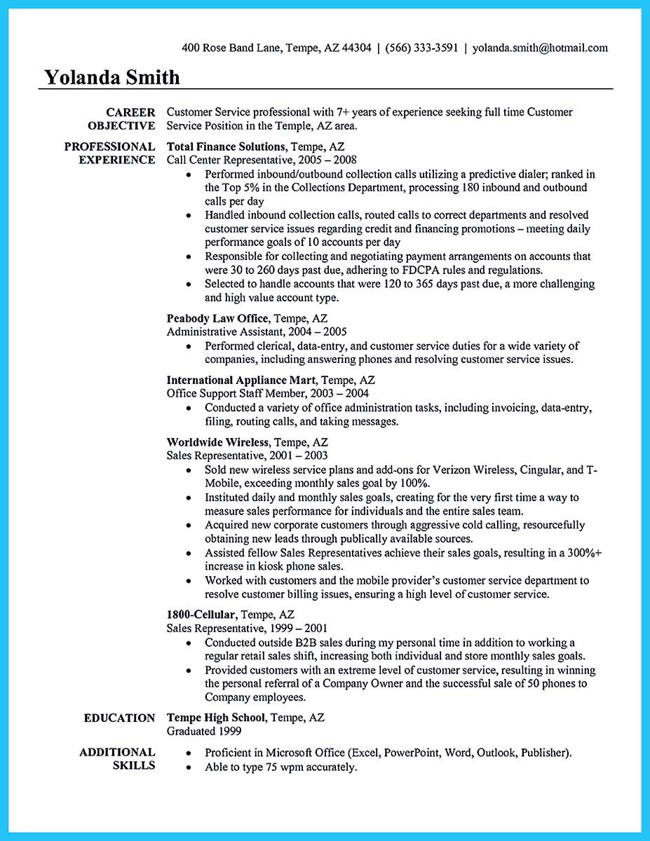 Cool Impressing The Recruiters With Flawless Call Center Resume