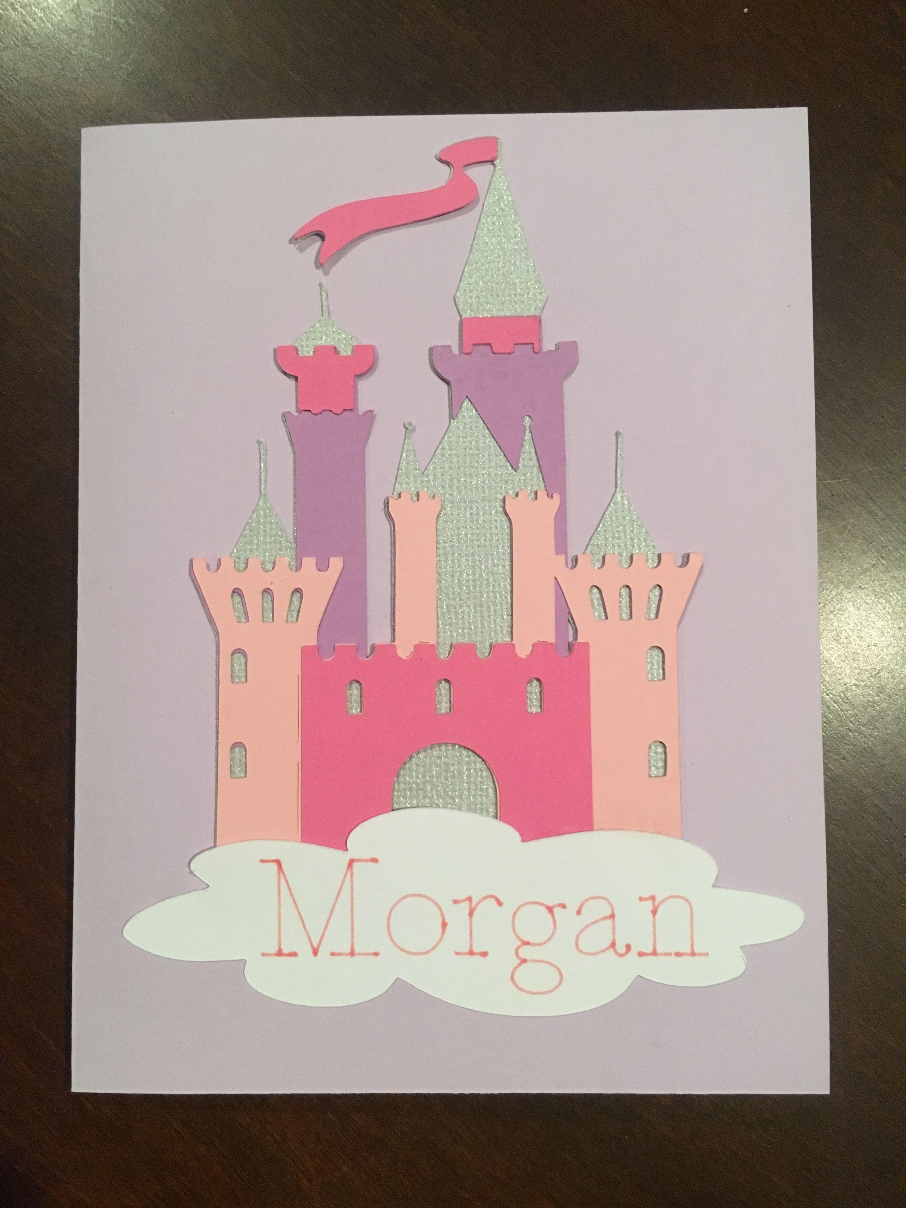 Cricut Princess Birthday Card For My Niece Birthday Cards Princess Birthday Cards