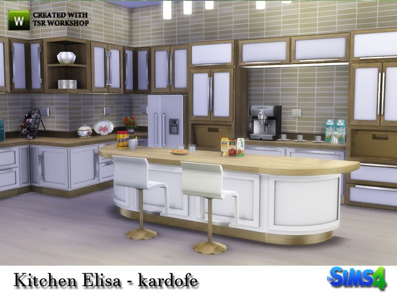 Kardofe Kitchen Elisa Sims 4 Kitchen Kitchen Sets Sims 4 Cc Furniture Living Rooms