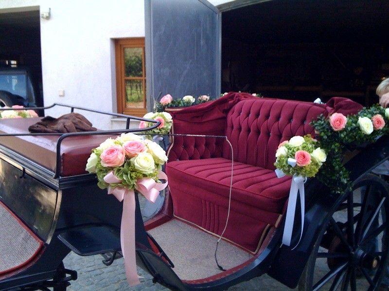 dekorierte Hochzeitskutsche