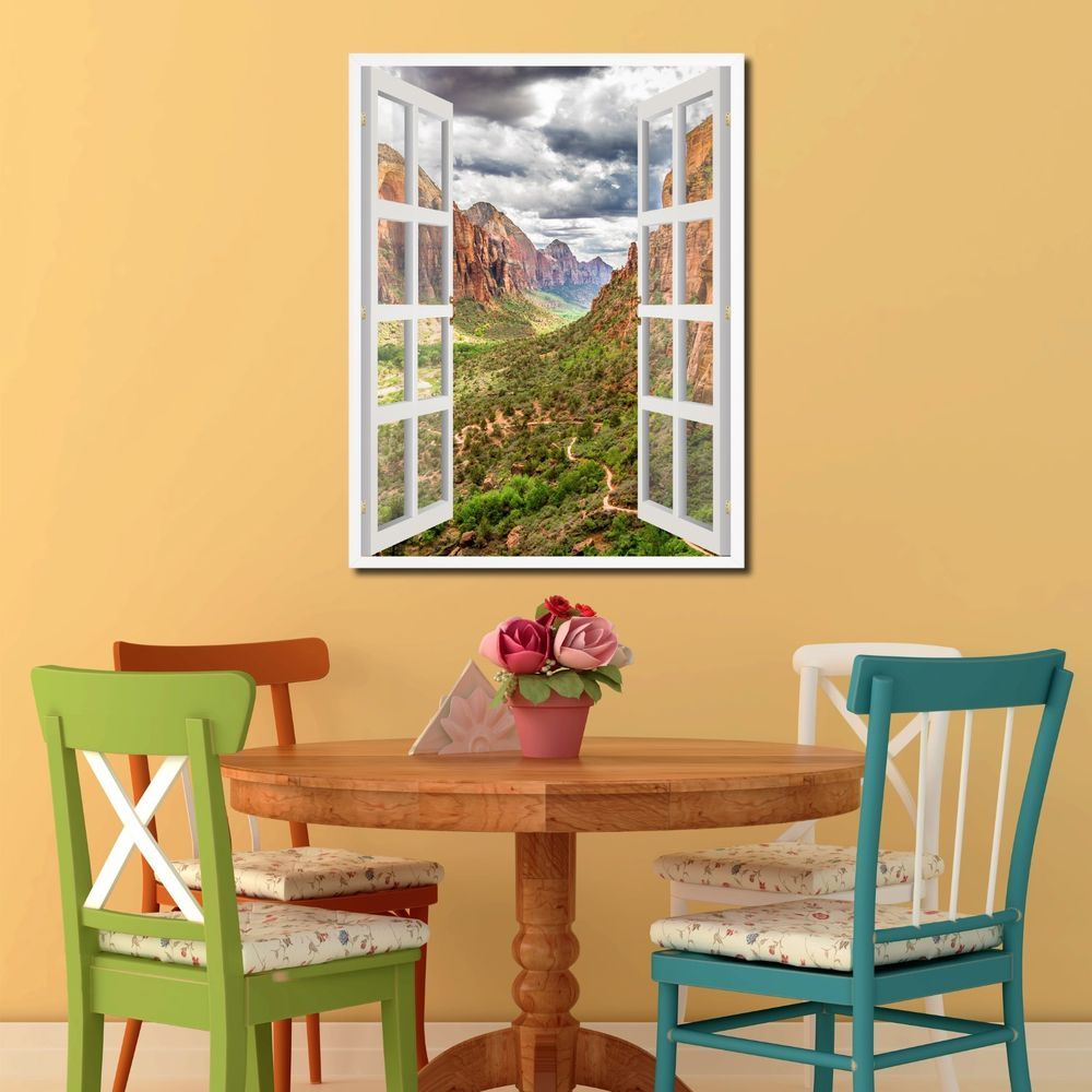 Zion National Park French 3D Window Home Décor Gift Ideas 24009 ...