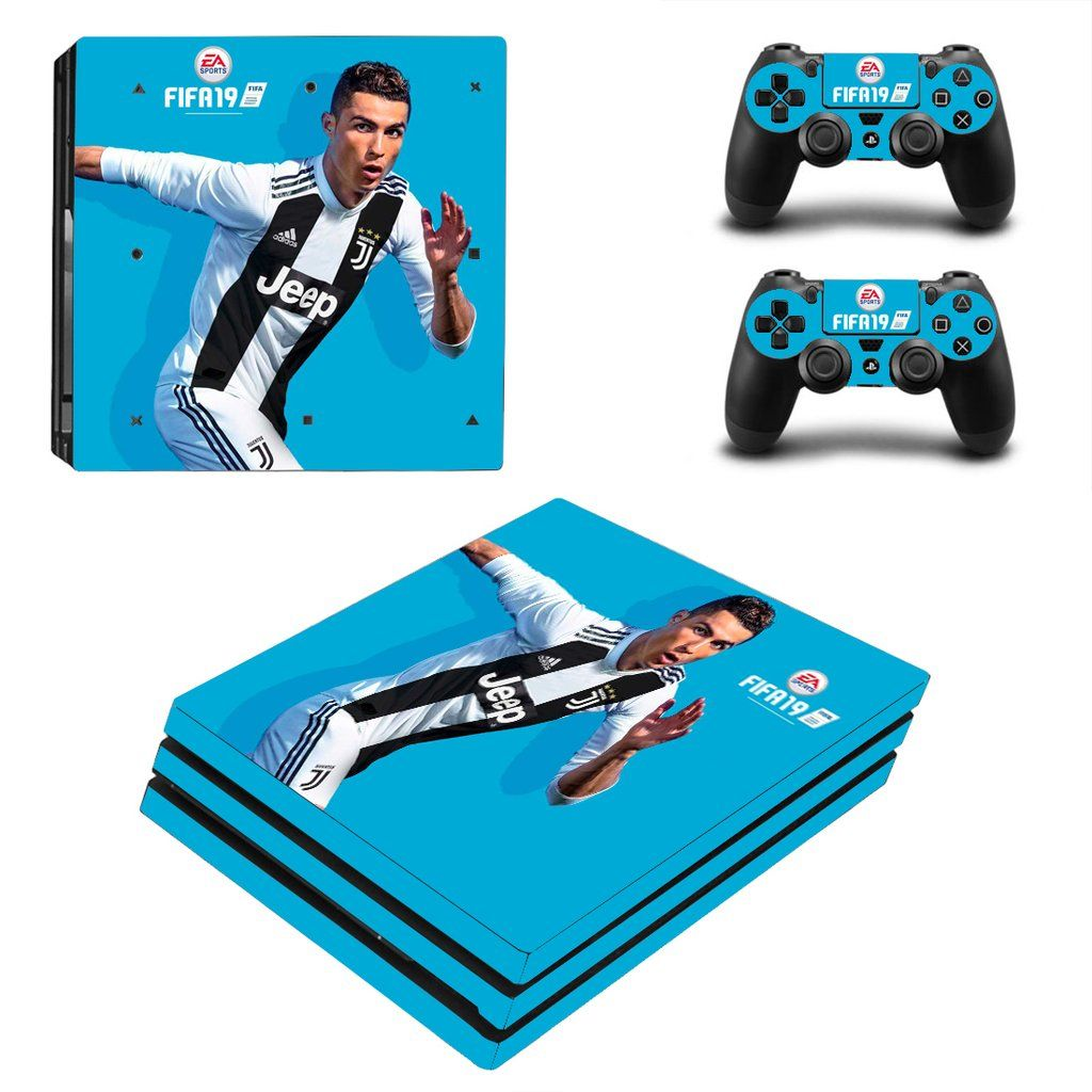 Fifa 19 Ps4 Pro Console Sticker Set Ps4 Skins And Stickers