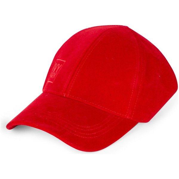IVY PARK Backless velvet baseball cap ($26) ❤ liked on Polyvore