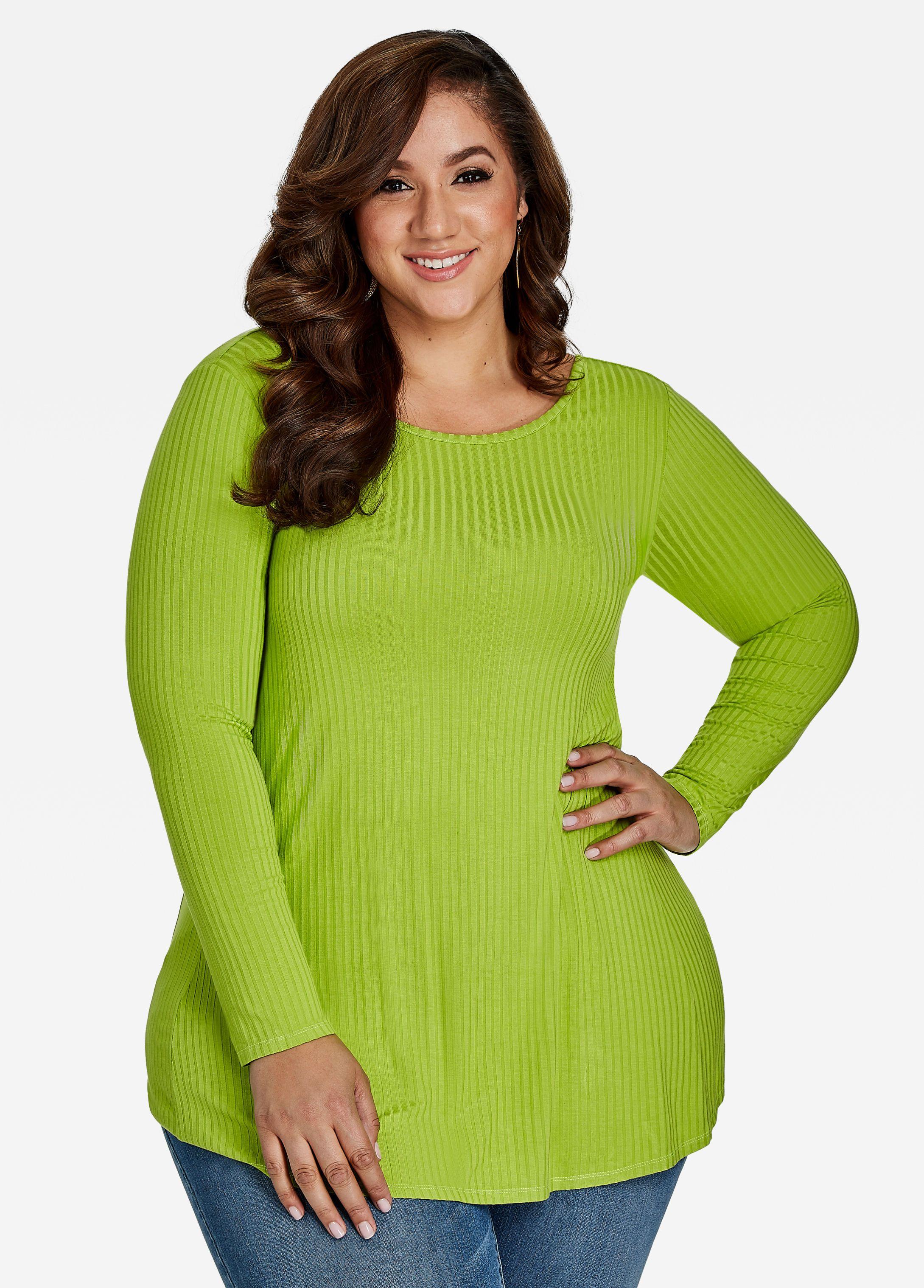 847d5cbc Long Sleeve Scoop Neck Knit Shirt | Erica Lauren McNeill (Ashley ...